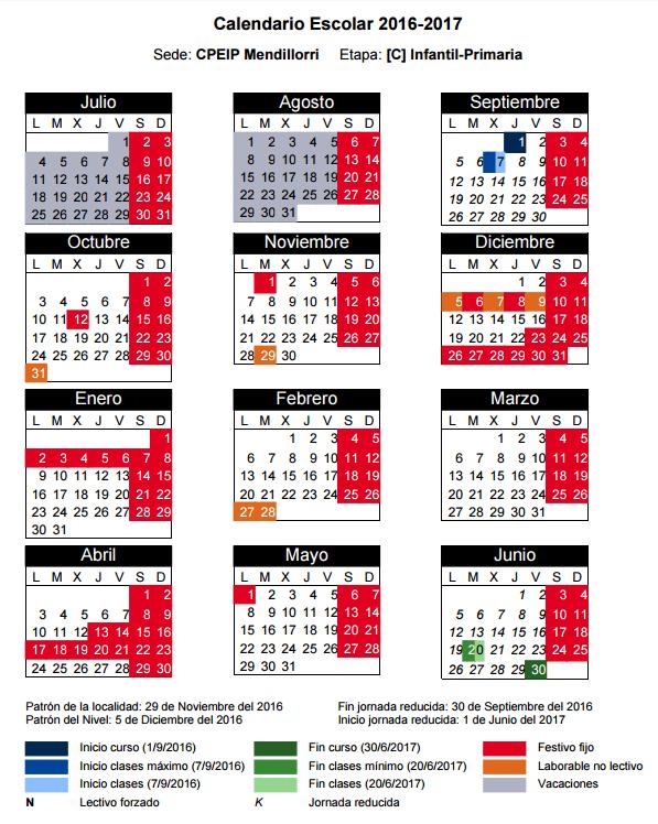 Calendario 16-17