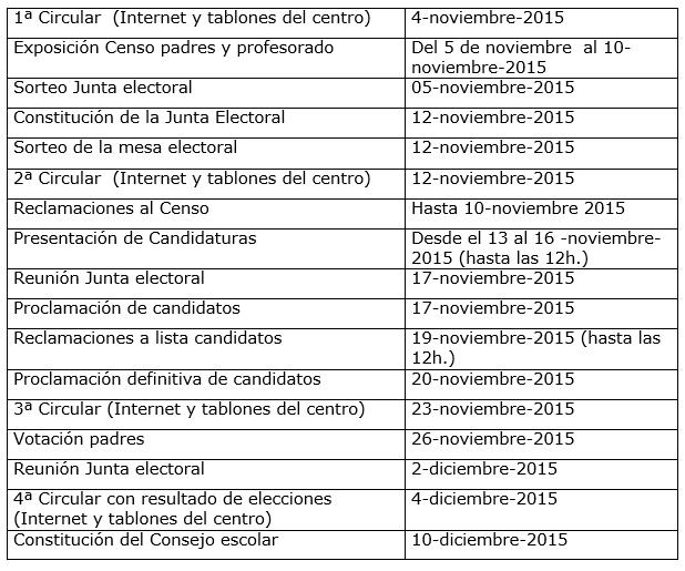 Calendario CE 2015